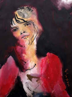 woman in red SOLD